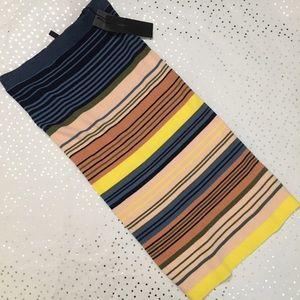 💜NWT💜BCBGMAXAZRIA Striped Pencil Skirt